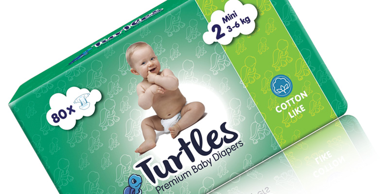 Turtles Premium Baby Diapers